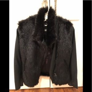 BLANKnyc VEGAN LEATHER AND FAUX FUR JKT W ZIP SZ S